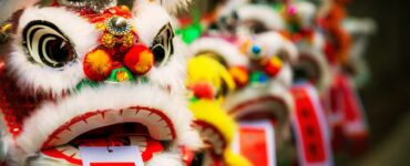 Traditional Chinese lion decorations for New Year