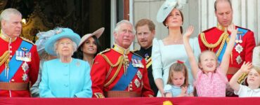 British Royal Family on Buckingham Palace balcony