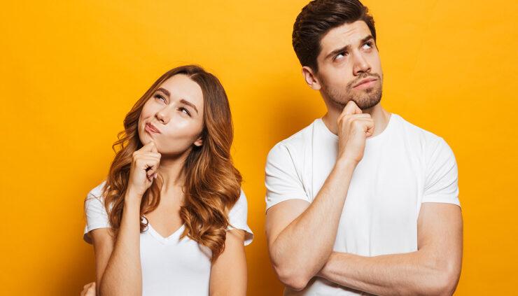 woman-and-man-thinking-hard