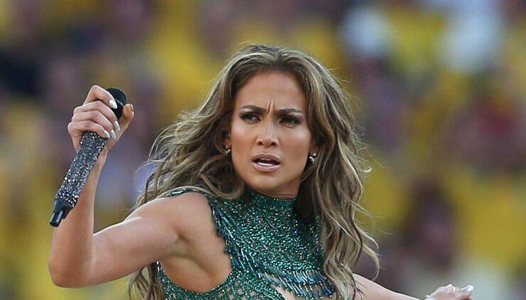 Jennifer Lopez performs on stage