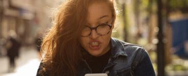 Woman yelling at phone